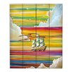 DiaNoche Designs Neverland Rainbow by Cindy Thornton Painting Print on Wood Planks