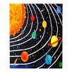 DiaNoche Designs Solar System IV by nJoy Art Painting Print on Wood Plank