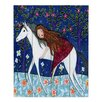 DiaNoche Designs Horse Dreamer by Sascalia Painting Print on Wood Planks