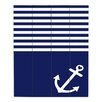 DiaNoche Designs Love Anchor Nautical by Organic Saturation Graphic Art on Wood Planks in Navy Blue