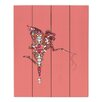 DiaNoche Designs Fairy Flowers by Susie Kunzelman Graphic Art on Wood Planks in Pink