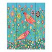DiaNoche Designs Bohemian Birds by Sascalia Painting Print on Wood Planks