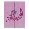 DiaNoche Designs Fairy Moon I by Susie Kunzelman Graphic Art on Wood Planks in Pink