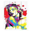 DiaNoche Designs Monroe III by Ty Jeter Marilyn Graphic Art on Wood Planks