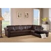 Amax Pasadena Leather Sectional