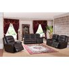 Amax Astoria 3 Piece Leather Living Room Set