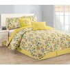 China Fortune Treetop Floral 5 Piece Quilt Set