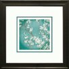"""Star Creations """"White Cherry Blossoms II"""" by Danhui Nai Framed Painting Print"""