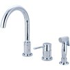 Pioneer Motegi Single Handle Deck Mounted Kitchen Faucet with Side Spray and Soap Pump
