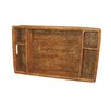 artifacts trading Rattan 5 Section Tray with Cutout Handles
