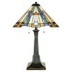 """Quoizel Inglenook Tiffany 25"""" H Table Lamp with Empire Shade"""