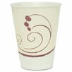 Solo Cups Company Symphony Design Trophy Foam Hot/Cold Drink Cups, 12 Oz, 100/Pack