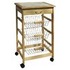 OIA Kitchen Cart with Wood Top