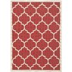 Safavieh Courtyard Red/Bone Outdoor Rug