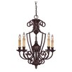 Savoy House Knight 5 Light Chandelier without Glass