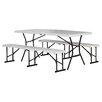 "Lifetime 3 Piece 72"" Rectangular Folding Table and Bench Set"