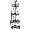 Pangaea Home and Garden Corner Baker's Rack