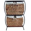 Pangaea Home and Garden Seagrass Basket Storage Pangaea Rattan 2 Drawer File Cabinet