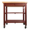 Catskill Craftsmen, Inc. Roll About Kitchen Cart with Wood Top