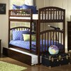 Atlantic Furniture Richland Twin Over Twin Bunk Bed with Urban Trundle