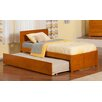 Atlantic Furniture Urban Lifestyle Orlando Panel Bed with Twin Trundle