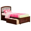Atlantic Furniture Urban Lifestyle Richmond Panel Bed with Storage
