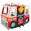 Teamson Kids Kids Fire Engine Desk and Chair Set