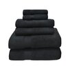 Simple Luxury Zero Twist 6 Piece Towel Set