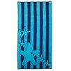 Simple Luxury Superior Oversize Jacquard Cotton Stripes with Starfish Beach Towel