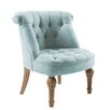 Duck-egg blue upholstered occassionla chair