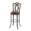 "Linon Calif 30"" Swivel Bar Stool with Cushion"