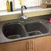 "Astracast 33"" x 22"" USA Granite ROK Double Bowl Kitchen Sink"