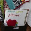 Amity Home Abby/Jane Save the Planet Decorative Cotton Throw Pillow