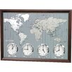 Rhythm U.S.A Inc Around The World II Wall Clock