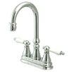Elements of Design Madison Centerset Bar Faucet with Porcelain Lever Handles