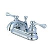 Elements of Design Vintage Centerset Bathroom Faucet with Double Lever Handles