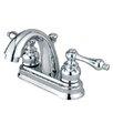 Elements of Design Chicago Centerset Bathroom Sink Faucet with Double Metal Handles