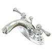 Elements of Design Centerset Bathroom Faucet with Double Buckingham Lever Handles