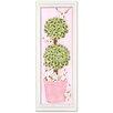 Doodlefish Bunny Topiary Giclee Framed Art