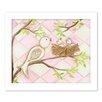 Doodlefish Bird Pink Diamond by Regina Nouvel Framed Painting Print on Canvas