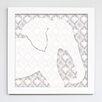 Doodlefish Jungle Elephant Silhouette Framed Art