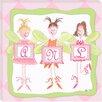 Doodlefish Personalized Fairy Monogram Giclee Canvas Art