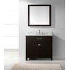 """Virtu Caroline 36"""" Single Bathroom Vanity Set with Mirror"""