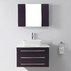 """Virtu Ultra Modern Series 33"""" Single Bathroom Vanity Set with Mirror"""