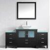 """Virtu Brentford Series 71"""" Single Bathroom Vanity Set with Mirror"""