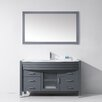 "Virtu Ava 55"" Single Bathroom Vanity Set with Mirror"