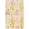 Linon Rugs Aspire Damask Hand-Tufted Cream/Gold Area Rug