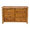 Fireside Lodge Premium Cedar 6 Drawer Dresser