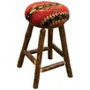"Fireside Lodge Hickory 24"" Bar Stool with Cushion"