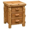 Fireside Lodge Cedar 3 Drawer Nightstand
